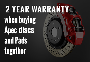 2 year warrenty offered when buying APEC discs and pads together